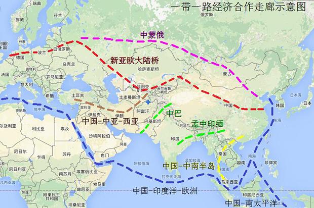一带一路经济合作走廊示意图   随着中国对外开放步伐不断加快,以及政府政策的支持引导,服务外包发展空间广阔。尤其是一带一路沿线新兴市场加速扩展,截至2017年底,我国服务外包的业务范围已经遍及五大洲200多个国家和地区,服务外包执行额超亿元的国家和地区达到130个。在一带一路倡议的引领下,我国与沿线国家加强在信息技术、工业设计、工程技术等领域的服务外包合作,执行额达到1029.